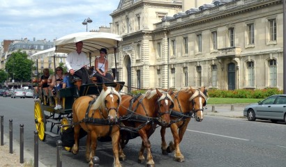 Paris by horse-drawn carriage; take a timeless ride